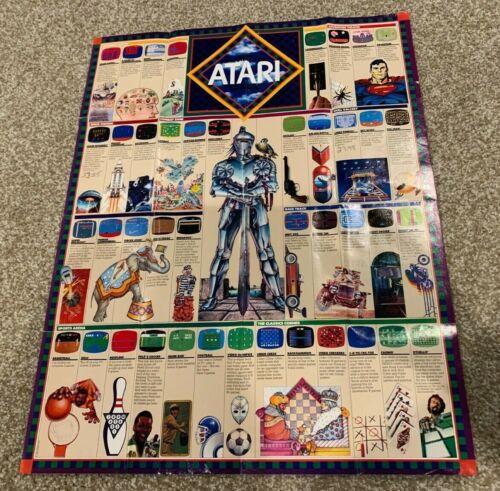 """ATARI 2600 Game Poster - RARE 1981 - 17"""" x 21"""" - Advertising Promotional Gaming!"""