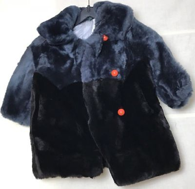 m dunkel schwarz blau für etwa 01 Jahr aussergewöhnlich  (Pelz-mantel Für Mädchen)