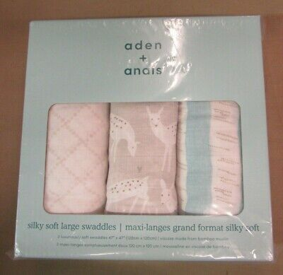 New Aden & Anais Large Soft Swaddle Farmer