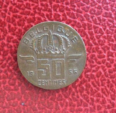 Belgique - Très Rare 50 Centimes 1966 Fr Fautée sur flan de 20 Centimes - 1,99gr