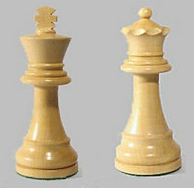 "Drueke Boxwood Chess Pieces Two Extra Large 1-Kings 1-Queen 4 1/4"" Only"