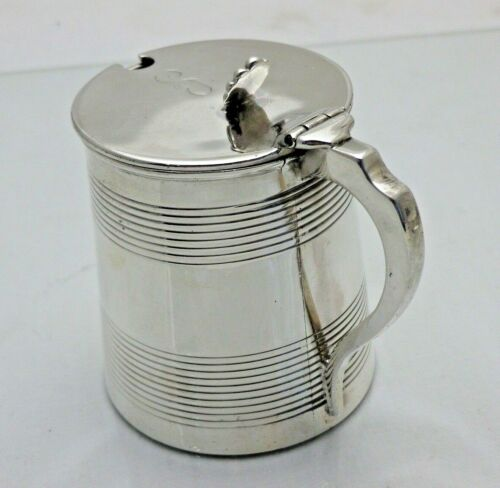 Georgian 1810 Antique Solid Silver Large Tankard Shaped Mustard Pot  (1793/9/VNN