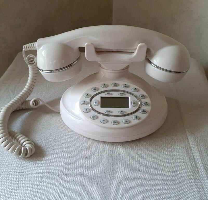 New Vintage Style Lifelong Classic Era Telephone Desktop Table Phone W/Caller ID