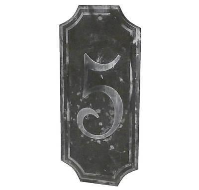 style ancienne plaque numero 5 de porte portail d entée de jardin murale en fer