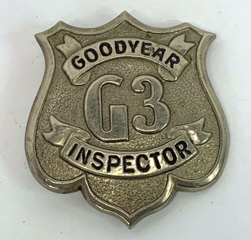 Vintage Goodyear G3 Inspector Badge