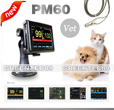 Veterinary Touch Screen Pulse Oximeter Tongueear Spo2 Probepc Softwar Pm60a Ce