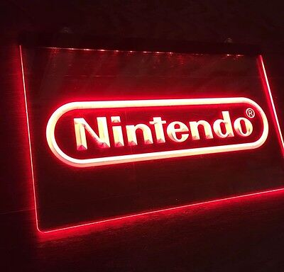 NEW NINTENDO LED Sign for Game Room,Office,Bar,Man Cave US SELLER.