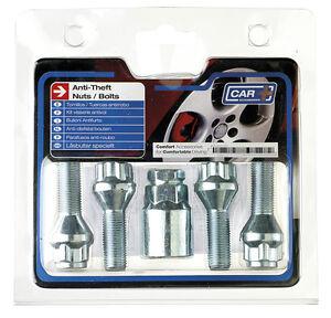 12 x 1.50mm / L26 Anti Theft Locking Wheel Bolt Nuts + Key to fit Nissan Note