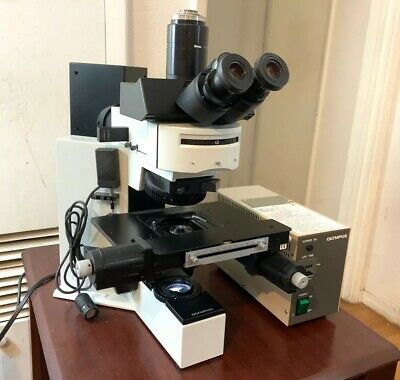 Olympus Microscope Bx50 With Fluorescence Precision Stage Lovely Condition