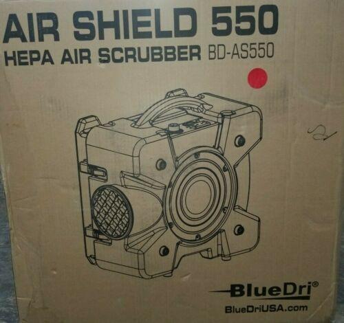 BlueDri Portable Air Scrubber BD-AS550 115V 60 Hz, Red New
