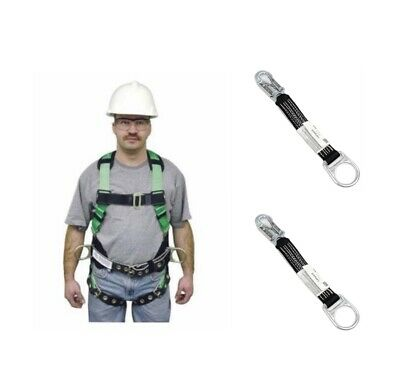 Lot 3 Miller Fall Protection 650t-61lgk With Two 18in D-ring Ext 892818inbk
