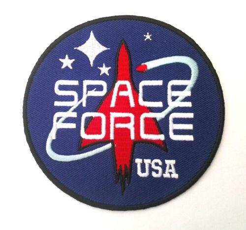 "SPACE FORCE (3-1/2"" Rd) USA Pro-Trump Biker Patch P6228 E"