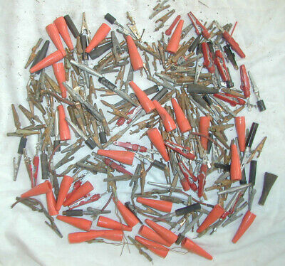 Large Lot 2 Lbs Assorted Vintage Alligator Clips Electrical Test Lead Clamp Boot