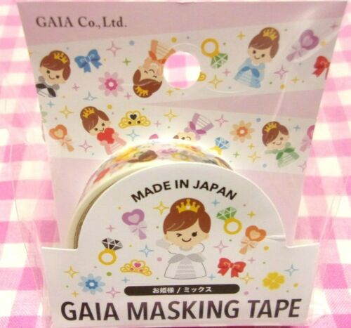 GAIA / Princess Girl Washi Paper Masking Tape / Made in Japan