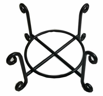 Wire Coaster Holder, Black, 4 Post Heavy Wire Scroll for 4