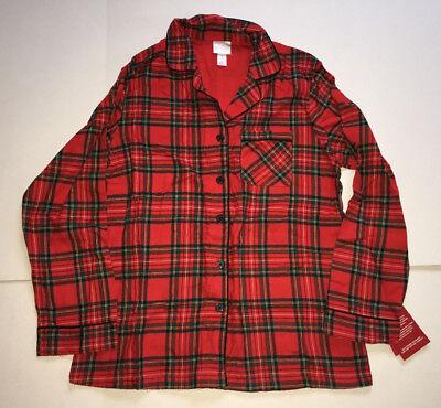 Womens Medium Red Plaid/Gingham 2 Piece Holiday/Christmas Pajama Set-Wondershop
