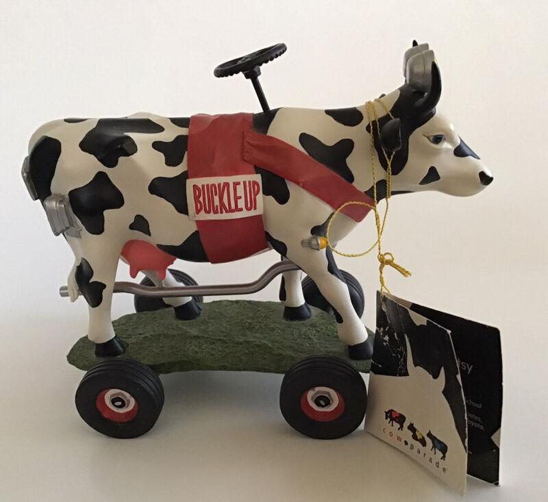 Cow Parade 9144 Buckle up Betsy Westland Figurine 2002