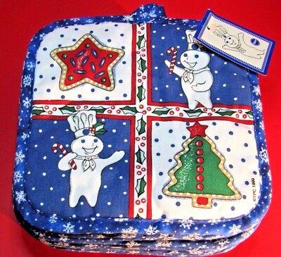 RARE NWT 1999 Pillsbury Doughboy Cookie Shop Christmas Pot Holder - Poppin Fresh