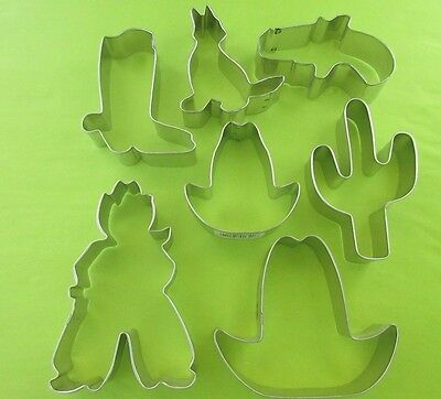 Buffalo, Cowboy, Hat, Boot, Chili, Longhorn Metal Cookie Biscuit Pastry Cutters Longhorn Cookie Cutter