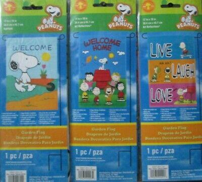 Snoopy Summer (Snoopy Spring/Summer Mini Garden Flag  12 x 18  NIP   CHOOSE)