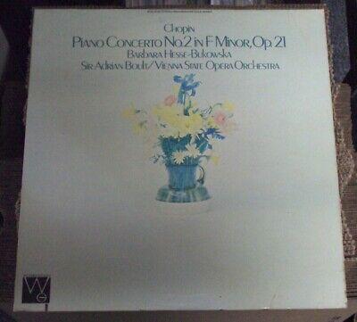 BARBARA HESSE-BUKOWSKA Chopin: Piano Concerto No. 2 In F Minor, Op. 21 LP OOP