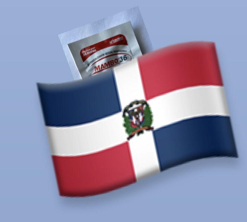 Mambo Dominican 36 Flag for men  4pk Pastillas Para Caballeros Erecc Bandera