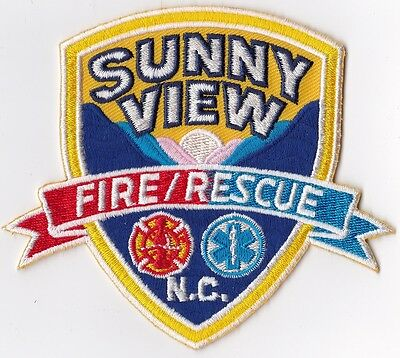 Sunny View Fire Rescue NC Firefighter Patch NEW!!