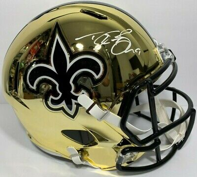 45057f3d0 DREW BREES SIGNED NEW ORLEANS SAINTS CHROME FULL SIZE FOOTBALL HELMET PSA/ DNA !
