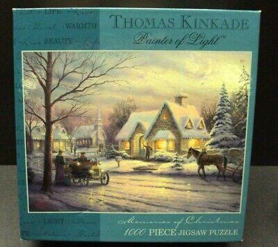 THOMAS KINKADE MEMORIES OF CHRISTMAS 1000 PIECE JIGSAW PUZZLE!