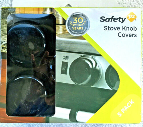 Safety 1st Stove Knob Covers Child/Baby Proof Black Plastic 5 Pack - New
