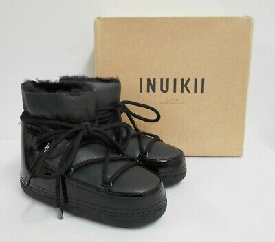 New INUIKII ankle boots leather calfskin & fur lined, tags & box 38 UK5 £286
