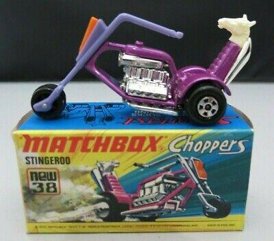 Matchbox 1972 Choppers Stingeroo #38 Purple w/Original Box England