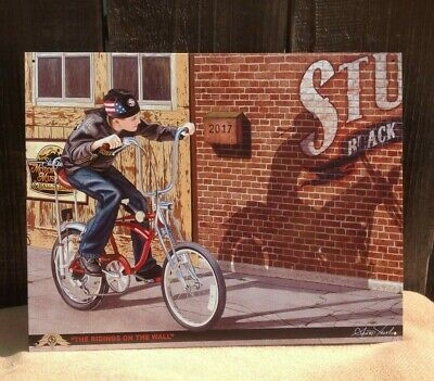 Jacobs Indian Motorcycle Riding on Wall Vintage Sign Tin Metal Garage Rustic