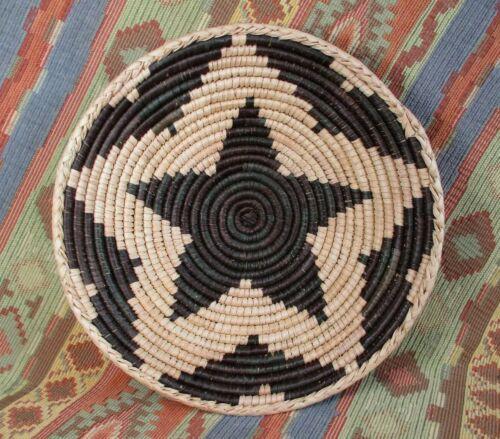 Southwestern Style Basket    Medium Size Star Basket Basket     over 9 inches