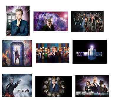 9 Doctor Who Stickers,Birthday party favors,decals,Dr Who,labels,loot,goody - Dr Who Party Supplies