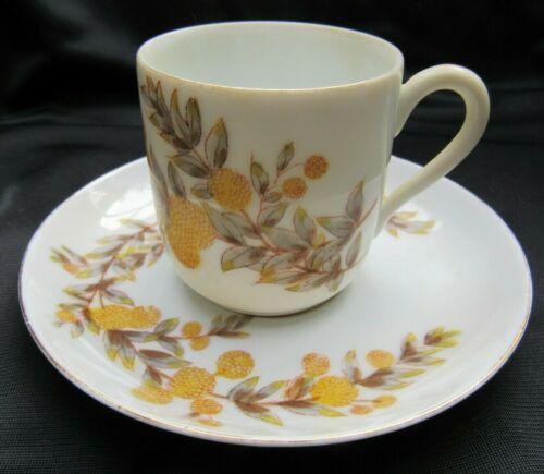 Antique Carlsbad Mark Gutherz Porcelain Calandula Demitasse Cup & Saucer