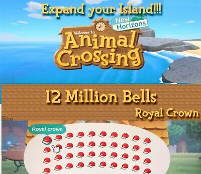 Animal Crossing 12 Million Bells. Instant!  Cheapest in the market!