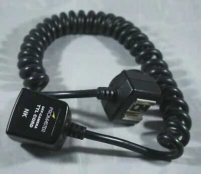 Promaster TTL Cable Cord Sync for  Nikon SB-600 SB-700 SB-800 flashes D3500 5500 Nikon Ttl Cord