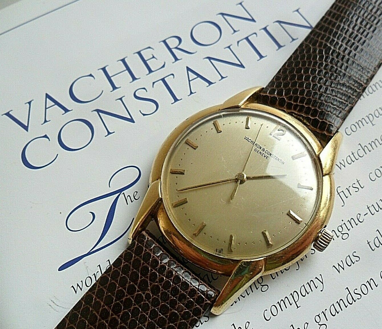 Classic Vintage 18k Gold 1970's Men's Vacheron Constantin 17J Swiss Watch 4 REP. - watch picture 1