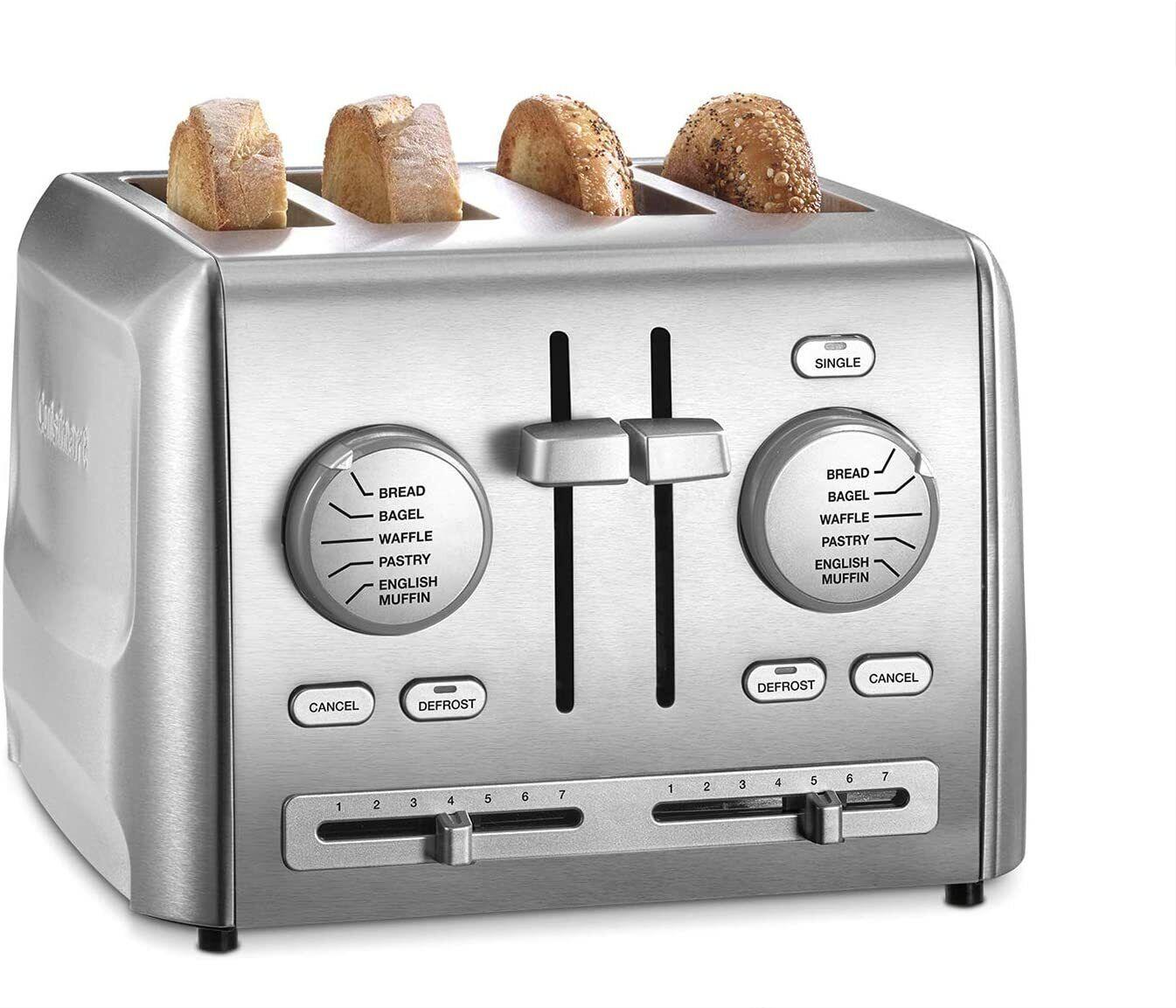Cuisinart 4-Slice Custom Select Metal Toaster - Stainless Steel