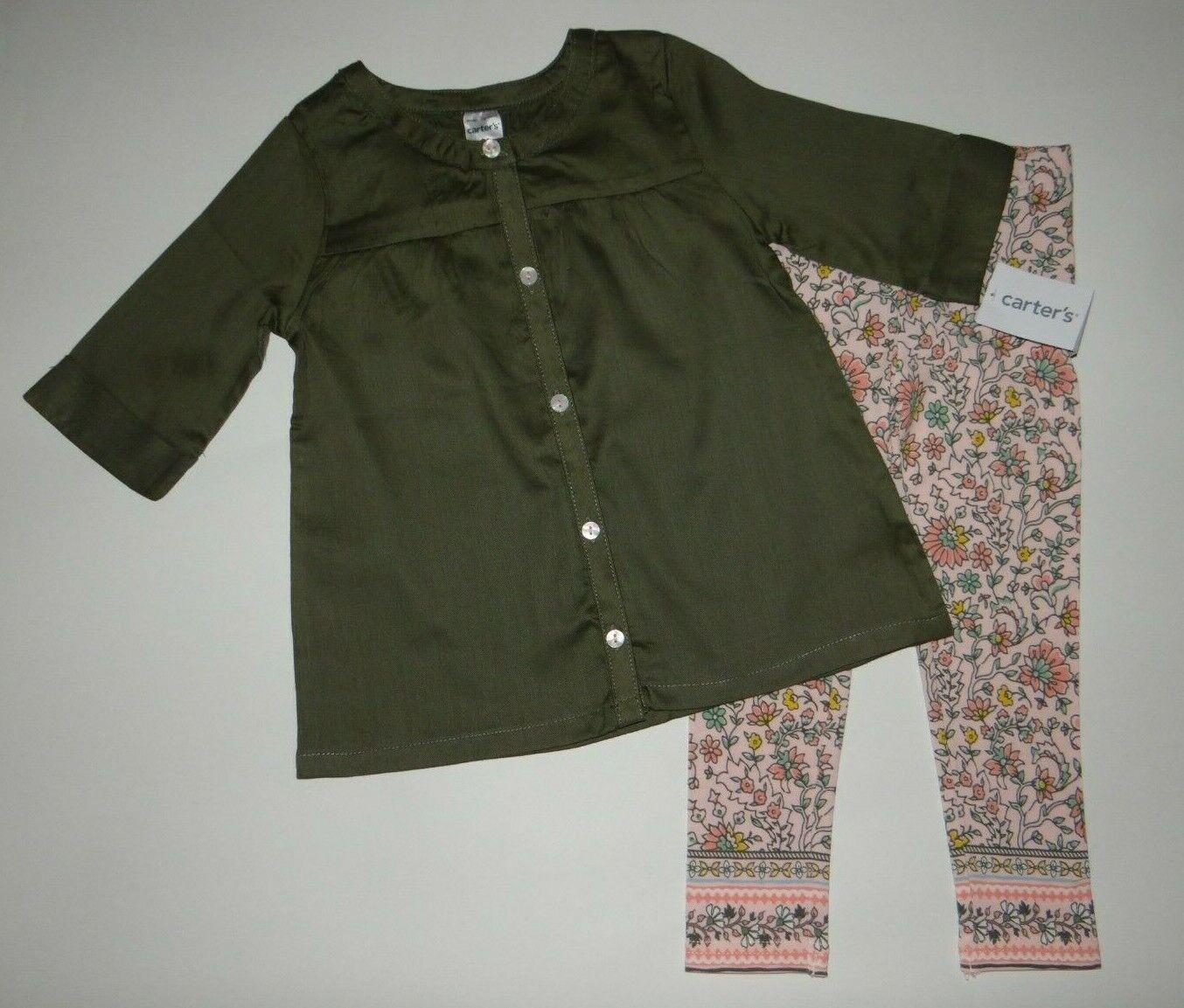 Baby girl clothes, 12 months, Carter's 2 piece set/ SEE DETA
