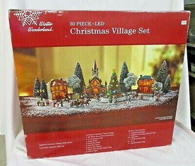 30pc LED Lights Music & Motion Train Christmas Tree Village Set Decoration (JBC