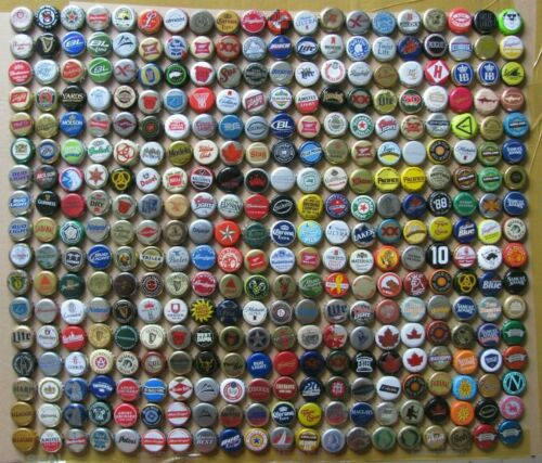 340 DIFF MIXED LOTS OF MICRO NO DOUBLES DOMESTIC & NON USA BEER BOTTLE CAPS