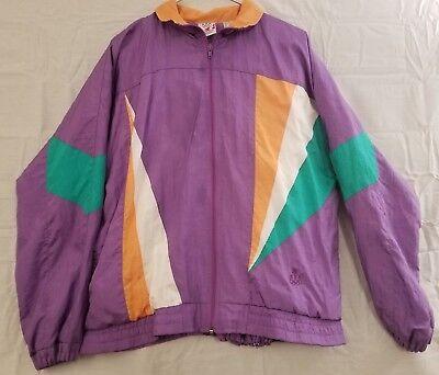 Vintage Team USA Olympic Windbreaker Suit Fullzip Purple JCPENNEY Exclusive Sz L