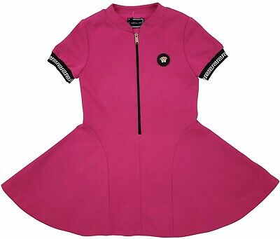 NEW Young Versace RRP £299 Designer Pink Dress Top 6 YEARS kids Girls A724