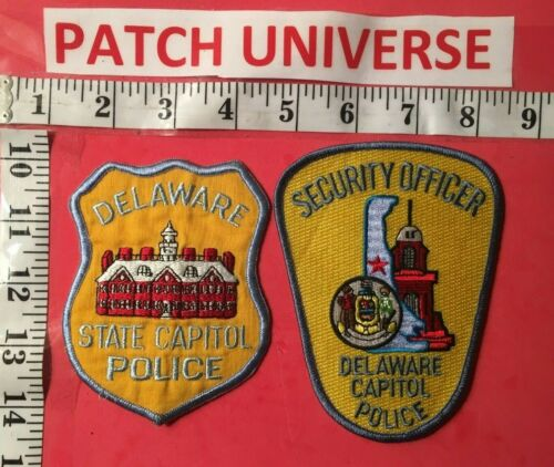 LOT OF TWO DIFFERENT  DELAWARE STATE CAPITOL POLICE SHOULDER PATCHES  L025