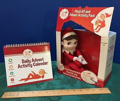 Plush Elf on the Shelf & Advent Activity Pack Christmas Countdown Fun Stickers,