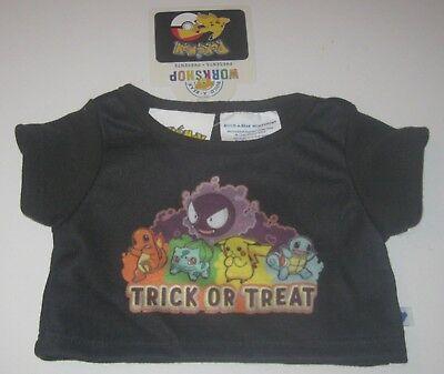 A Halloween Treat (BUILD-A-BEAR Halloween POKEMON TRICK OR TREAT Black Shirt Bulbasaur)