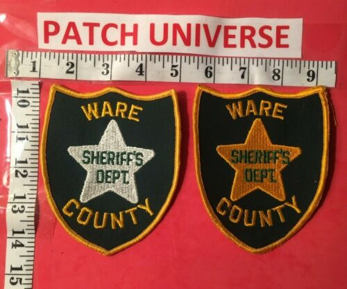 LOT OF TWO DIFFERENT WARE COUNTY GA SHERIFF  SHOULDER PATCHES  K006