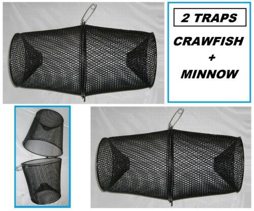TWO PROMAR Crawfish/Minnow Bait Traps- Vinyl Coated Metal- TR601 SET OF 2